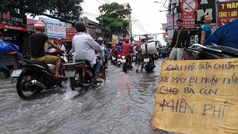 Sinh hoạt của người dân TP.HCM đảo lộn vì mưa lớn - ảnh 8