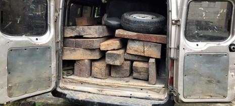 Công an phục bắt 16 phách gỗ gõ trên xe khách - ảnh 1