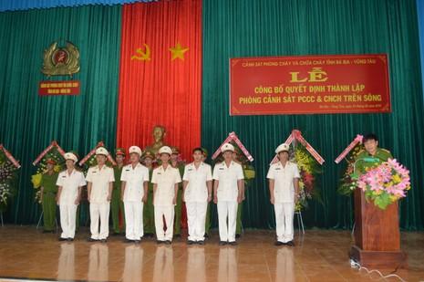 Thành lập Phòng Cảnh sát PCCC và cứu nạn, cứu hộ trên sông - ảnh 1