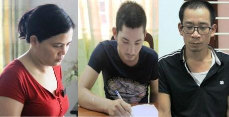 Từ trái sang: Hoàng Thị Ngọc Lan, Nguyễn Văn Toàn, Trần Hữu Thịnh