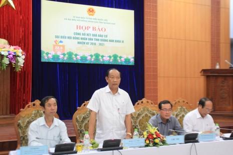 Quảng Nam: Giám đốc Sở trẻ tuổi nhất nước trúng cử - ảnh 1