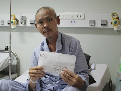 Trao tiền hỗ trợ cựu binh Gạc Ma đang mang trọng bệnh - ảnh 1