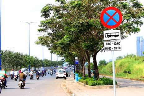 Xe chở khách vẫn cố tình vi phạm quy định cấm dừng - ảnh 1