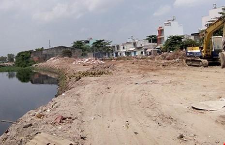 Dự án kênh Tham Lương đang nạo vét km cuối cùng - ảnh 1