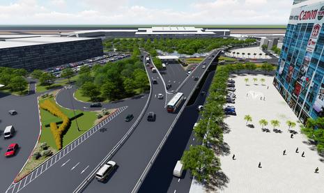 Làm hai cầu vượt thép để giảm ùn tắc cho khu sân bay - ảnh 2