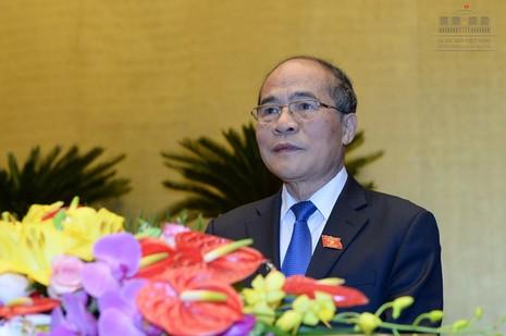 Chủ tịch QH Nguyễn Sinh Hùng: Nói và làm phải xuất phát từ cái tâm - ảnh 1