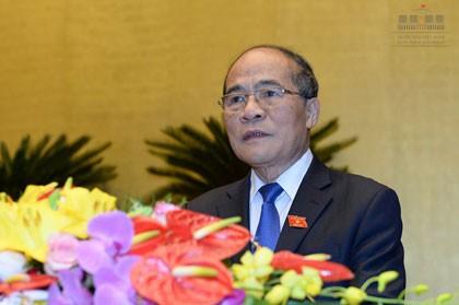 Quốc hội đồng ý miễn nhiệm Chủ tịch Quốc hội Nguyễn Sinh Hùng - ảnh 1