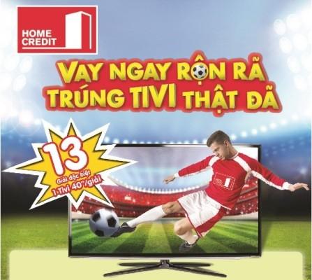 Trúng Tivi 40 inch xem Euro Cup cùng Home Credit - ảnh 1