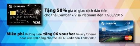Ưu đãi lớn cho người dùng thẻ của Eximbank - ảnh 1