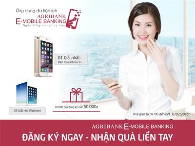"""""""Đăng ký ngay - Nhận quà liền tay"""" với Agribank E-Mobile Banking - ảnh 1"""