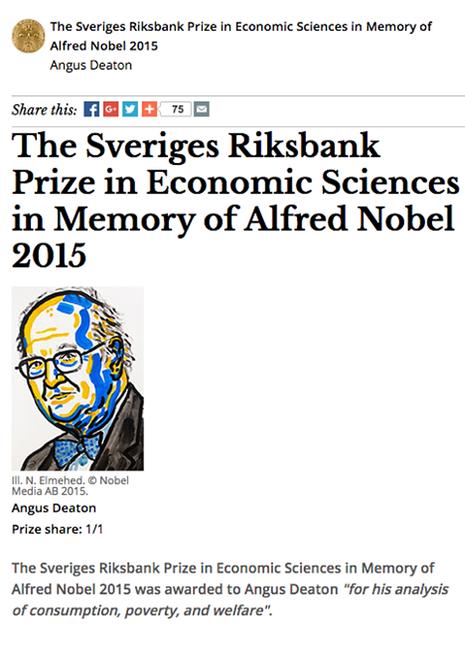 Giải Nobel Kinh tế 2015 có chủ mới - ảnh 1