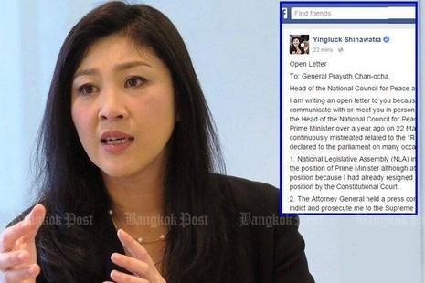 Thái Lan đòi tịch biên tài sản cựu thủ tướng Yingluck - ảnh 1