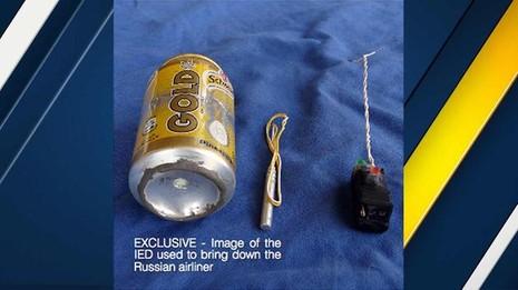 IS khoe ảnh bom gài trên máy bay Nga - ảnh 1