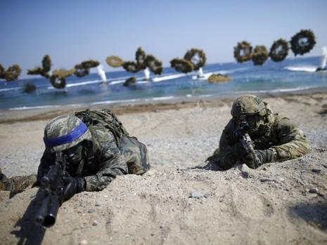 50 tàu hải quân Mỹ - Hàn tập trận đối phó Triều Tiên - ảnh 1