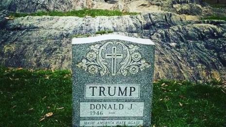 Xuất hiện bia mộ của Donald Trump giữa Công viên New York - ảnh 1