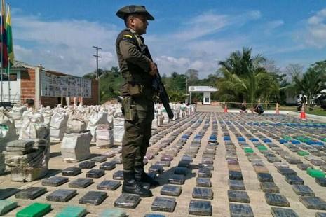 Cảnh sát Columbia 'lập kỷ lục', thu giữ 8 tấn cocaine - ảnh 1