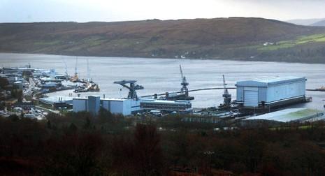 căn cứ Falslane ở Scotland