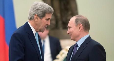 John Kerry và Vladimir Putin