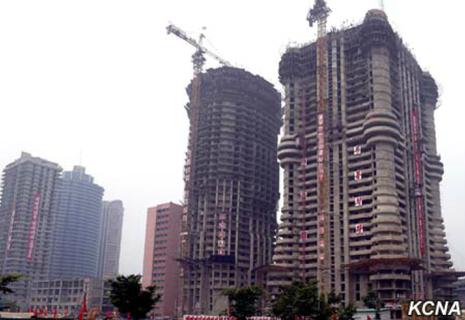 tòa nhà 70 tầng ở Triều Tiên