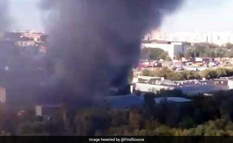 cháy nhà máy in Nga