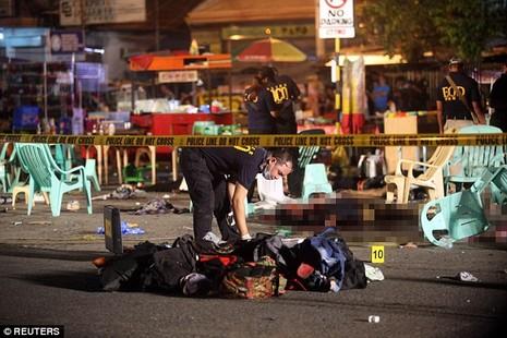 nổ chợ đêm Philippines