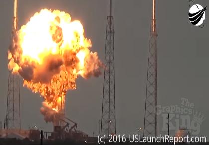 Tên lửa Falcon 9 bốc cháy