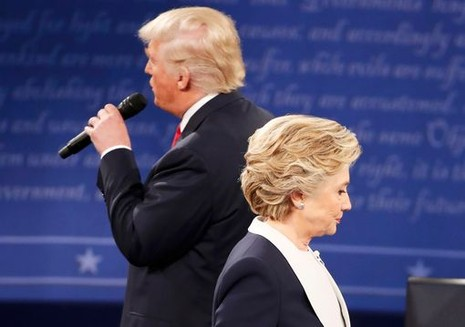 trump và Hillary tranh luận lần 2