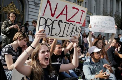 biểu tình phản đối Trump đắc cử