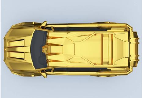 siêu xe mạ vàng Trump