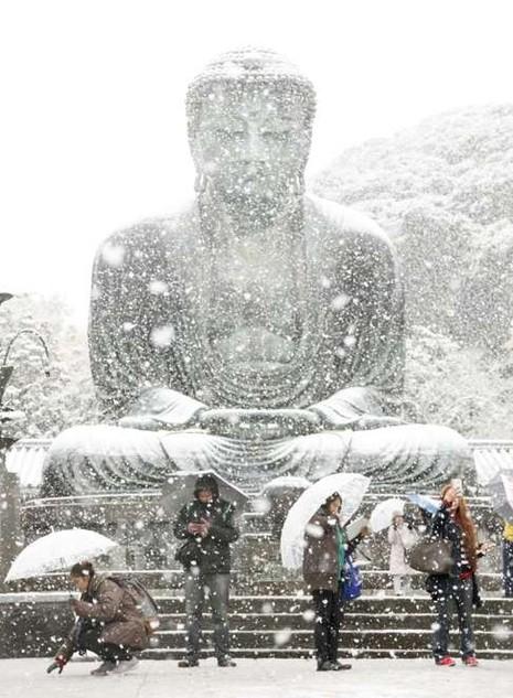 tuyết rơi ở Nhật