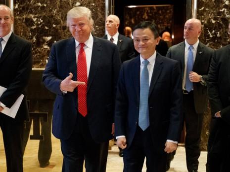 Ông Trump và Jack Ma trong cuộc gặp tại Tháp Trump