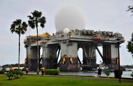 Hệ thống radar tia X trên biển SBX của Mỹ