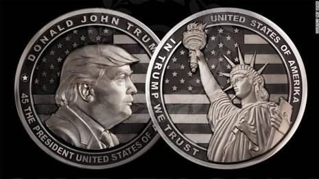 Công ty Nga làm đồng xu tân Tổng thống Donald Trump - ảnh 1