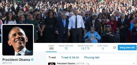 Xúc động lời chia sẻ cuối cùng trên Twitter của Obama - ảnh 1