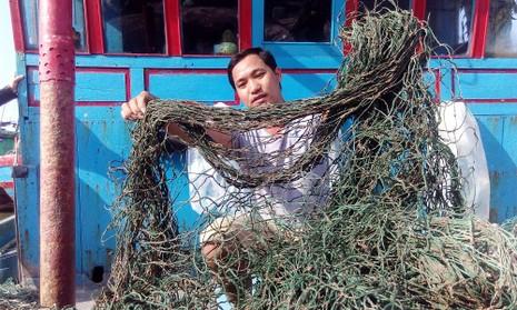 'Bùn lạ' tấn công lưới ngư dân miền Trung - ảnh 2