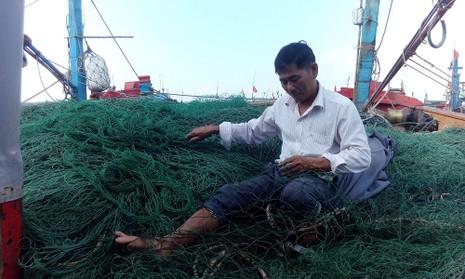 'Bùn lạ' tấn công lưới ngư dân miền Trung - ảnh 1