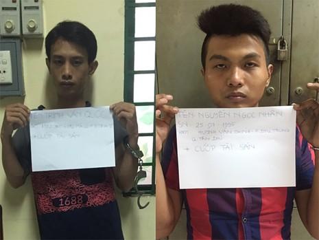 Các đối tượng cướp giật bị công an bắt giữ