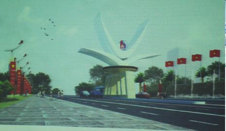 18 tỉ đồng xây cổng chào trên đường Võ Nguyên Giáp - ảnh 1
