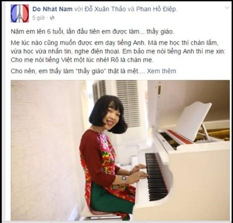 Xúc động bức thư thần đồng Đỗ Nhật Nam gửi mẹ nhân ngày 20-11 - ảnh 1
