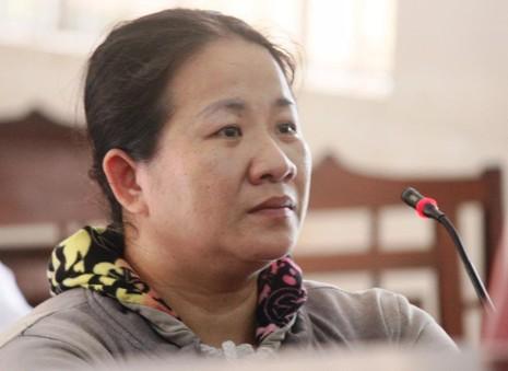 Bị cáo Trương Thị Thúy Ái tại tòa phúc thẩm