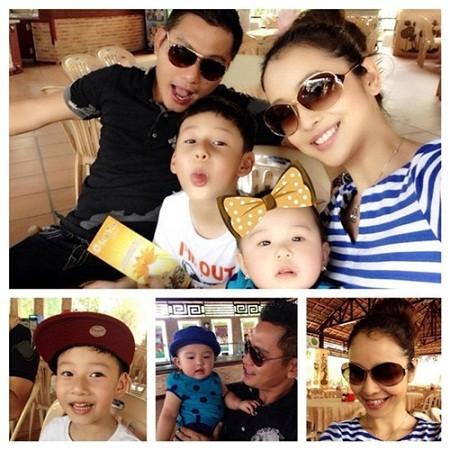 Gia đình hạnh phúc của Jennifer Phạm.