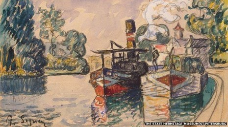 Bức tranh màu nước bản gốc của họa sĩ Paul Signac.