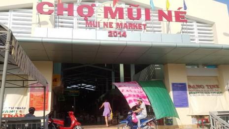 Chợ Mũi Né nơi xảy ra vụ trộm sáng 9-4