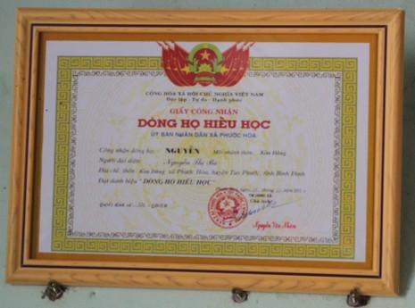 Không chỉ có truyền thống cách mạng, dòng tộc Nguyễn Chưng còn là dòng họ hiếu học