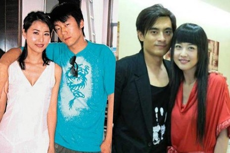 Ảnh chụp cùng bạn trai hiện tại (trái) và Trần Long.