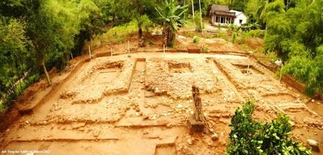 Điểm khai quật tại gò Út Tranh, trên sườn núi Ba Thê thuộc thị trấn Óc Eo, Thoại Sơn (An Giang) - Ảnh: Đức Vịnh