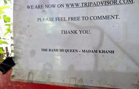 Bánh mì Madam Khanh được xếp hạng thứ 7 của TripAdvisor về các món ngon ở Hội An