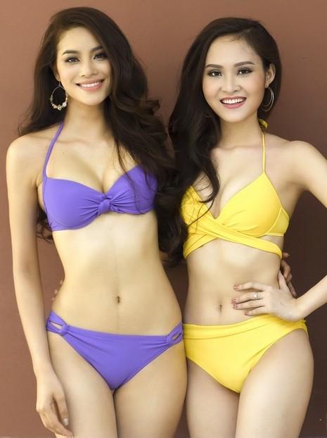 Người đẹp Hoa hậu Hoàn vũ khoe dáng với bikini