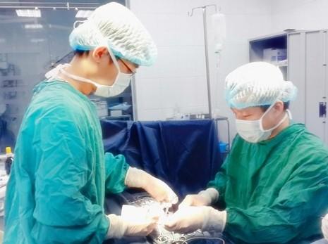 Lần đầu tiên ở VN: Nối lại bảy đoạn ruột bị teo cho bệnh nhi - ảnh 1