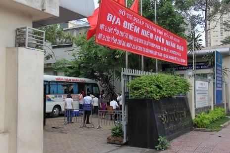 Sở Tư pháp TP.HCM tham gia hiến máu nhân đạo - ảnh 1